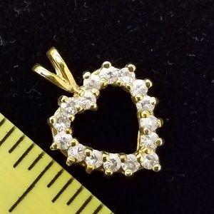 Jewelry - Heart cubic zirconia pendant